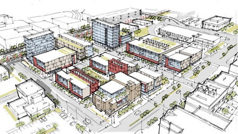 Plans for the $100M investment that will develop 1st Street and Central Avenue for the creation of Innovate ABQ