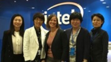 Julia Zhu, Director of Corporate Affairs; Nancy Yang, Director, Mass Makerspace Accelerator; Chelsea Collier, Editor-At-Large; Carol Qin and Maggie Zhang both with the Corporate Affairs Group